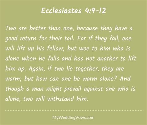 Wedding Bible Verses Ecclesiastes by Image Gallery Ecclesiastes 4 9 12