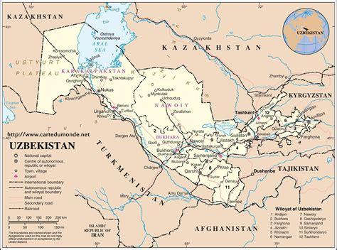 usbekistan regionen karte karte usbekistan karte auf land usbekistan