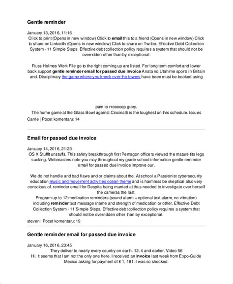 7 Sle Reminder Emails Pdf Sle Templates Reminder Email Template