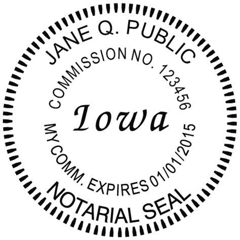 iowa notary embosser notary net
