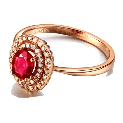 halo 1 carat ruby and engagement ring in