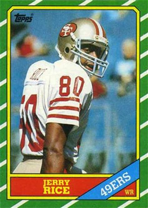 football cards value 1986 topps jerry rice 161 football card value price guide