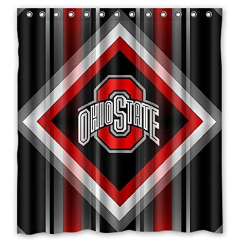 osu shower curtain ohio state shower curtain ohio state buckeyes shower
