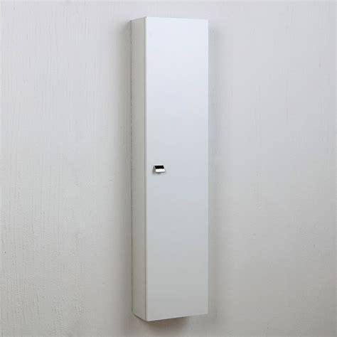 Colonna Pensile Bagno armadietto sospeso per bagno laccato bianco con ripiani