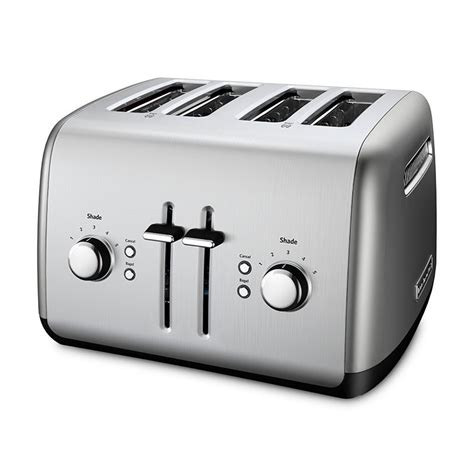 Silver Toaster Kitchenaid Kmt4115cu 4 Slice Toaster W Bagel Button Lcd