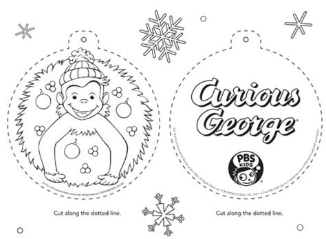 merry christmas curious george coloring pages pbs kids holiday coloring pages printables happy