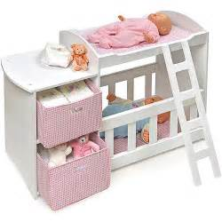Baby Born Wardrobe And Changing Table Badger Basket Doll Crib And Changing Station Walmart