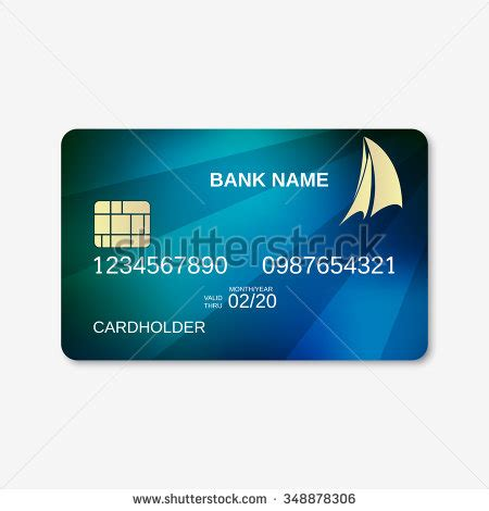 bfgi bank credit card template bank card credit card design template stock vector