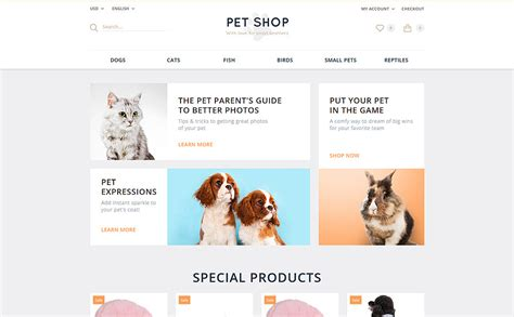 themes bootstrap pets pet store opencart template