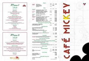 California Style House caf 233 mickey menu dlp guide disneyland paris
