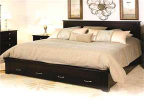 king size bed frame with storage drawers home design