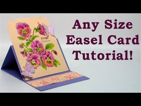 how to make photo card how to make any size easel card