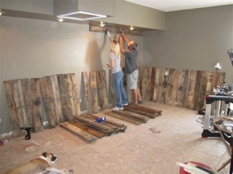 Wall Ideas For Bathroom by Reclaimed Pallet Wall Oodalollie