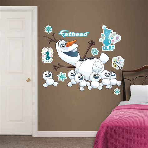 fatheads wall stickers olaf collection frozen fever fathead wall decals