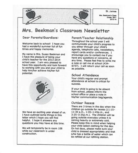 8 Classroom Newsletter Templates Free Sle Exle Format Download Free Premium Class Newsletter Template