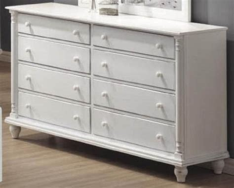 Storage Dresser With Bun Shaped Legs In White Finish White Bedroom Dressers Chests