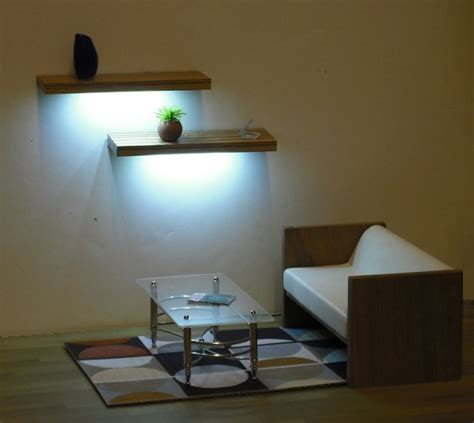 Floating Shelf Lighting by Floating Shelf Kit With Lights Miniatures