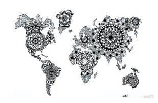 Wall Sticker Patterns world map mandala laptoptaschen redbubble