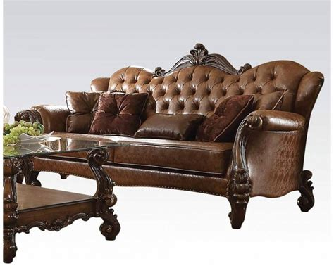 formal leather sofa versailles formal button tufted sofa in light brown leather
