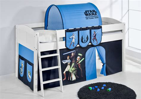 Childrens Cabin Bed Midsleeper With Curtains 4106 By Wars Bed Frame