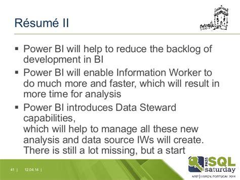 Power Bi Developer Resume