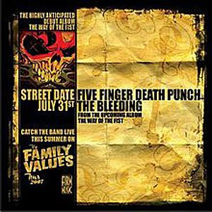 five finger death punch from out of nowhere no 46 five finger death punch the bleeding top 21st