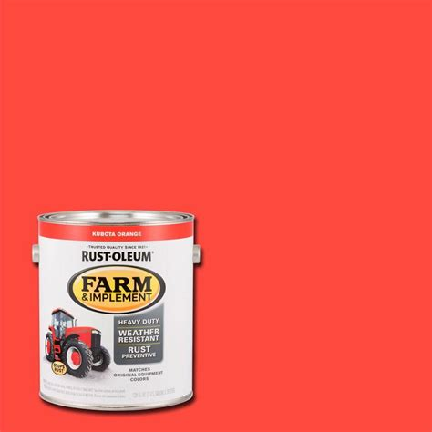 rust oleum 1 gal farm and implement kubota orange paint of 2 280183 the home depot