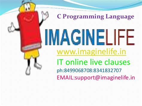 online tutorial of c language c programming languages online hyderabad training