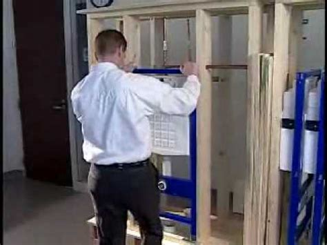 How To Install A Water Closet by How To Install A Geberit Wall Hung Toilet Carrier With