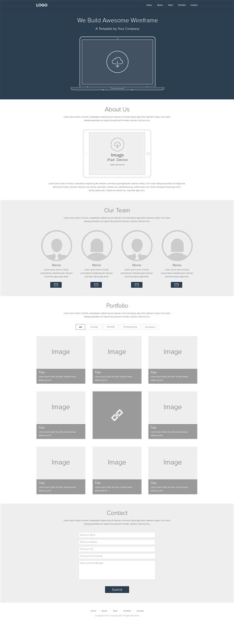 10 Free Website Wireframe Design Psd Free Premium Creatives Html Wireframe Template