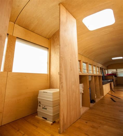 Tiny House Murphy Bed Bus Transformed Into A Functional And Mobile Home