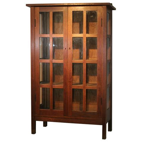 stickley mission style bookcase antiquities