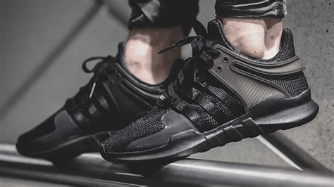 adidas eqt black adidas eqt support adv black the sole supplier