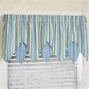 Coastal Window Curtains Clearwater Coastal Striped Ascot Window Treatment