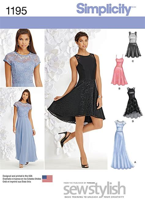 misses special occasion dress simplicity pattern