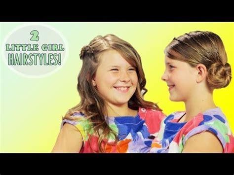 little girl hairstyles youtube 2 cute and simple little girl hairstyles braids and buns