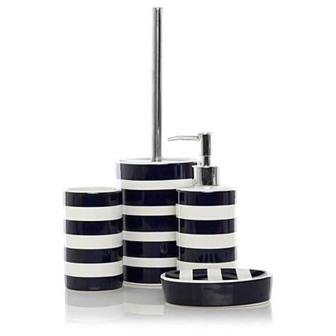 asda bathroom accessories george home blue rugby stripe bathroom accessories