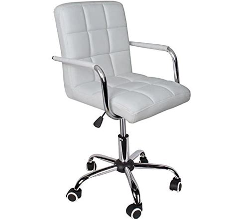 Hydraulic Computer Desk Eight24hours Modern Office White Leather Chair Hydraulic Swivel Executive Computer Desk Task