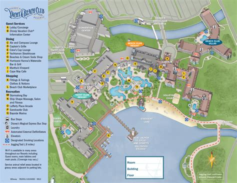 club resort map disney 2013 yacht club guide map photo 1 of 1