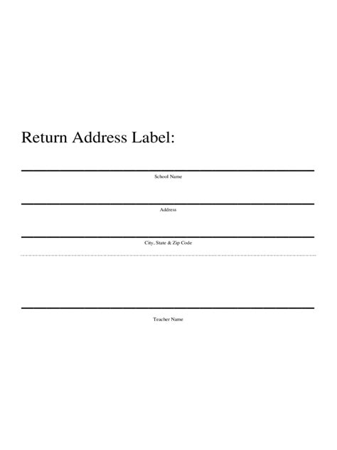 Return Address Label Template 1 Free Templates In Pdf Word Excel Download Return Address Template