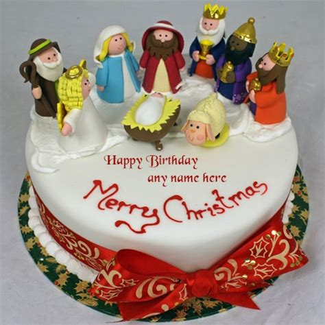 happy birthday christmas cakes merry santa claus birthday cakes with name edit