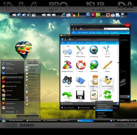 quantria wb windows xp theme themes for pc invi pro e dark by 007tinar on deviantart