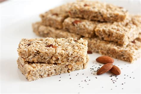 Healthy Seed Bar chewy almond poppy seed granola bars lemon poppy seed