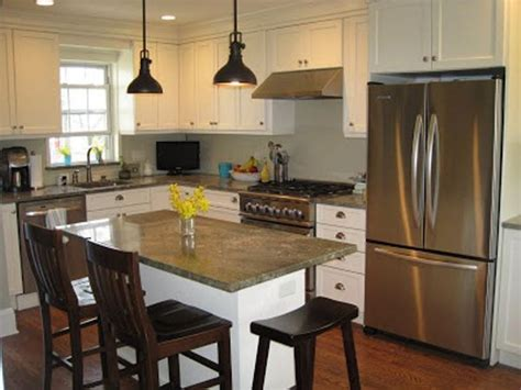 black pendant l and grey countertop for classic kitchen
