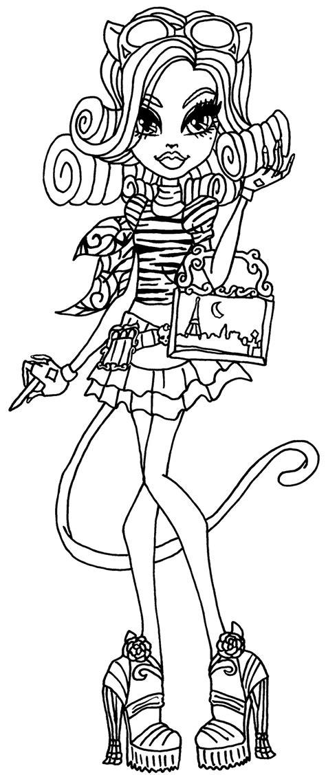 monster high coloring pages amanita nightshade catrine de mew mu 241 ecas monster high
