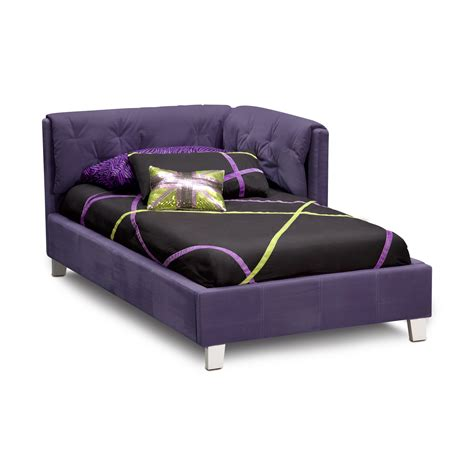 purple beds dark purple corner bed with tufted headboard ideas