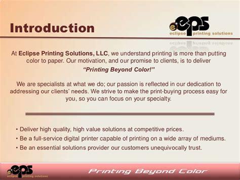 sle business plan printing press eclipse printing business plan
