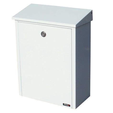qualarc white wall mount locking mailbox alx 200 wht the