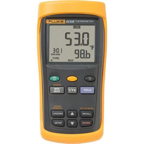 Original Fluke 54 Ii B Dual Input Digital Thermometer With Data fluke 53 2 b single input thermometer 60hz with usb recording transcat canada