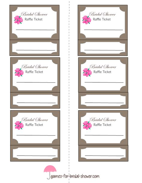 printable bridal shower raffle tickets free printable bridal shower raffle tickets
